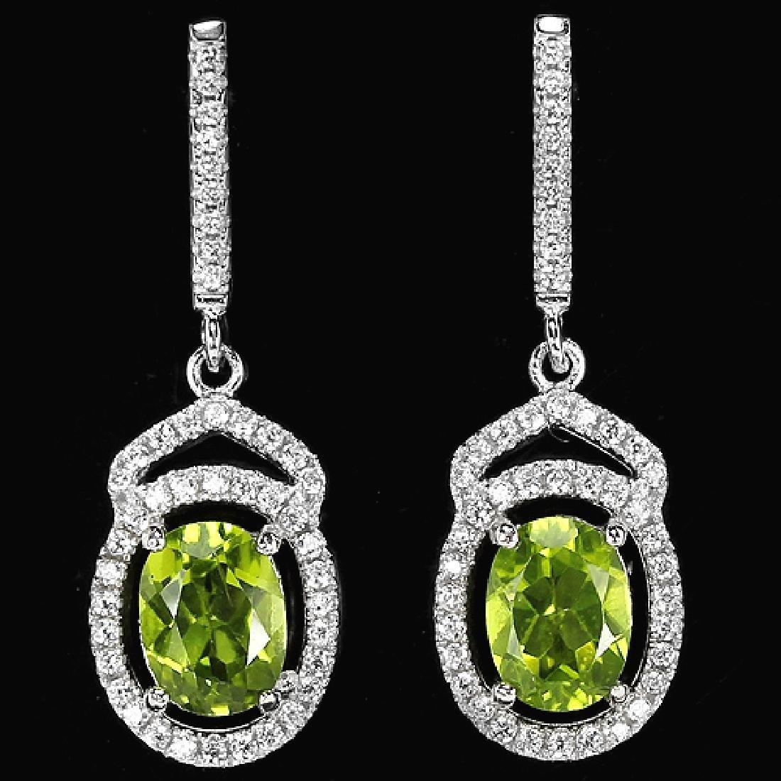 Natural Green Peridot Earrings