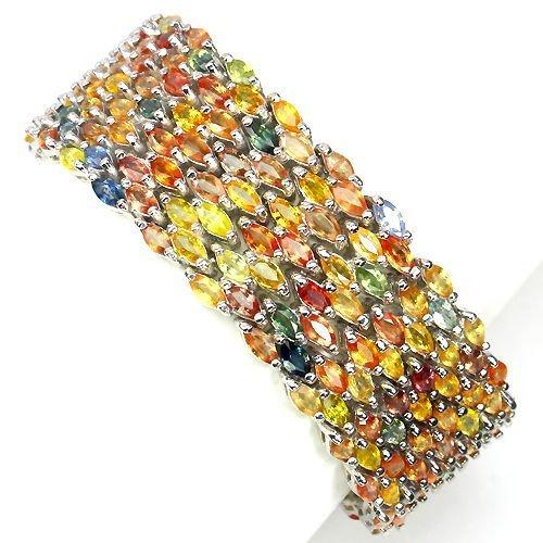 Natural Fancy Sapphire 374 Carats Bracelet