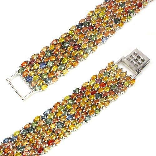 Natural Fancy Sapphire 374 Carats Bracelet - 2
