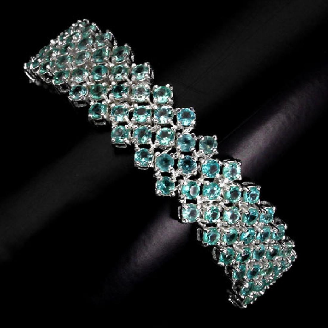 Natural Neon Blue Apatite 150 Carats Bracelet