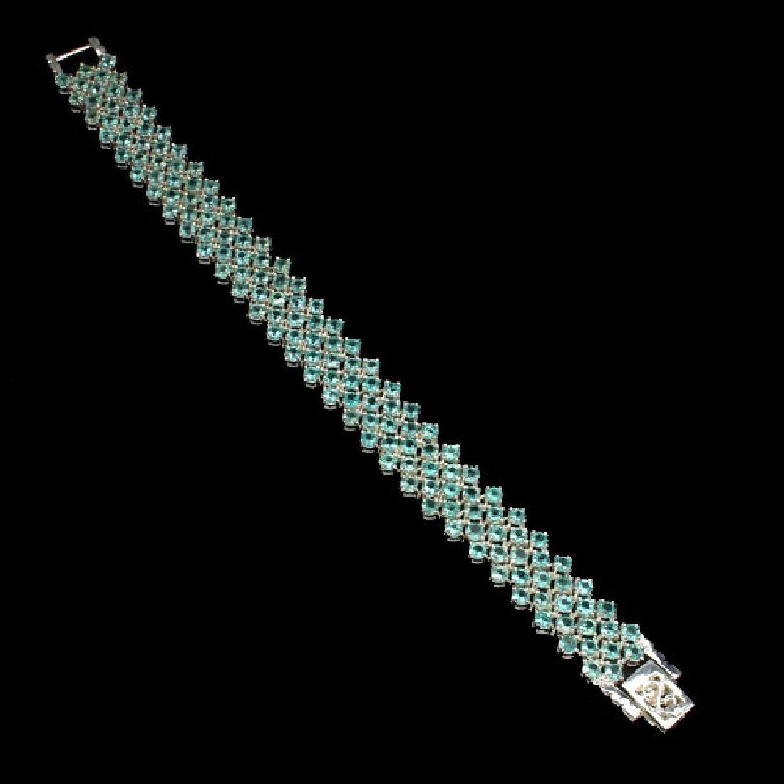 Natural Neon Blue Apatite 150 Carats Bracelet - 2