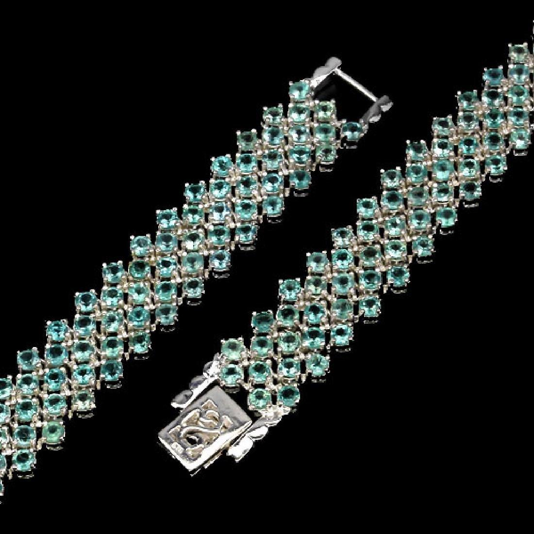 Natural Neon Blue Apatite 150 Carats Bracelet - 3