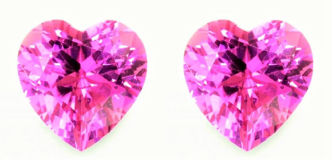 Natural Baby Pink Heart Sapphire Pair 2.01 Carats - VVS