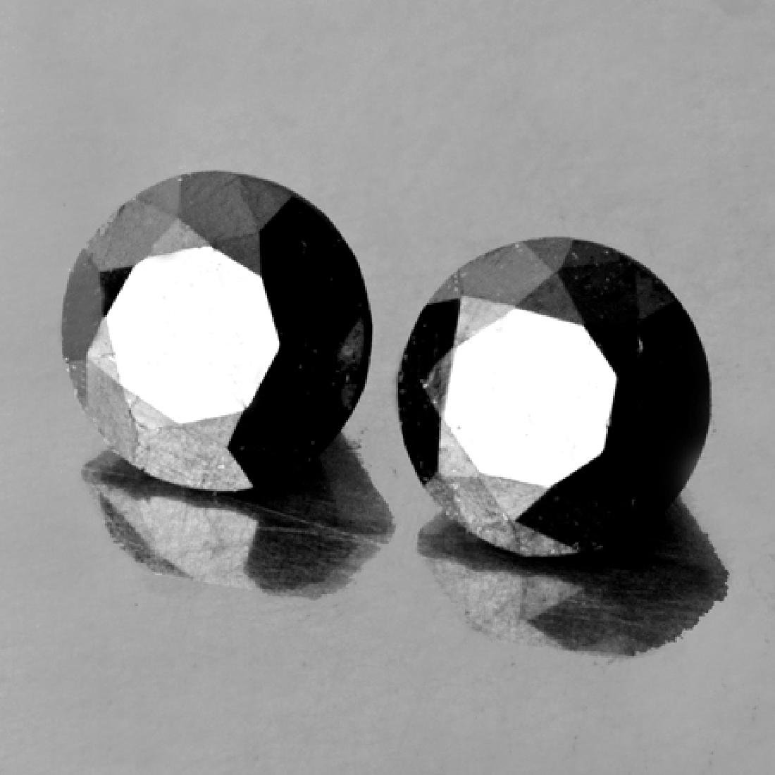 Natural Black Diamond Pair 2.76 Carats