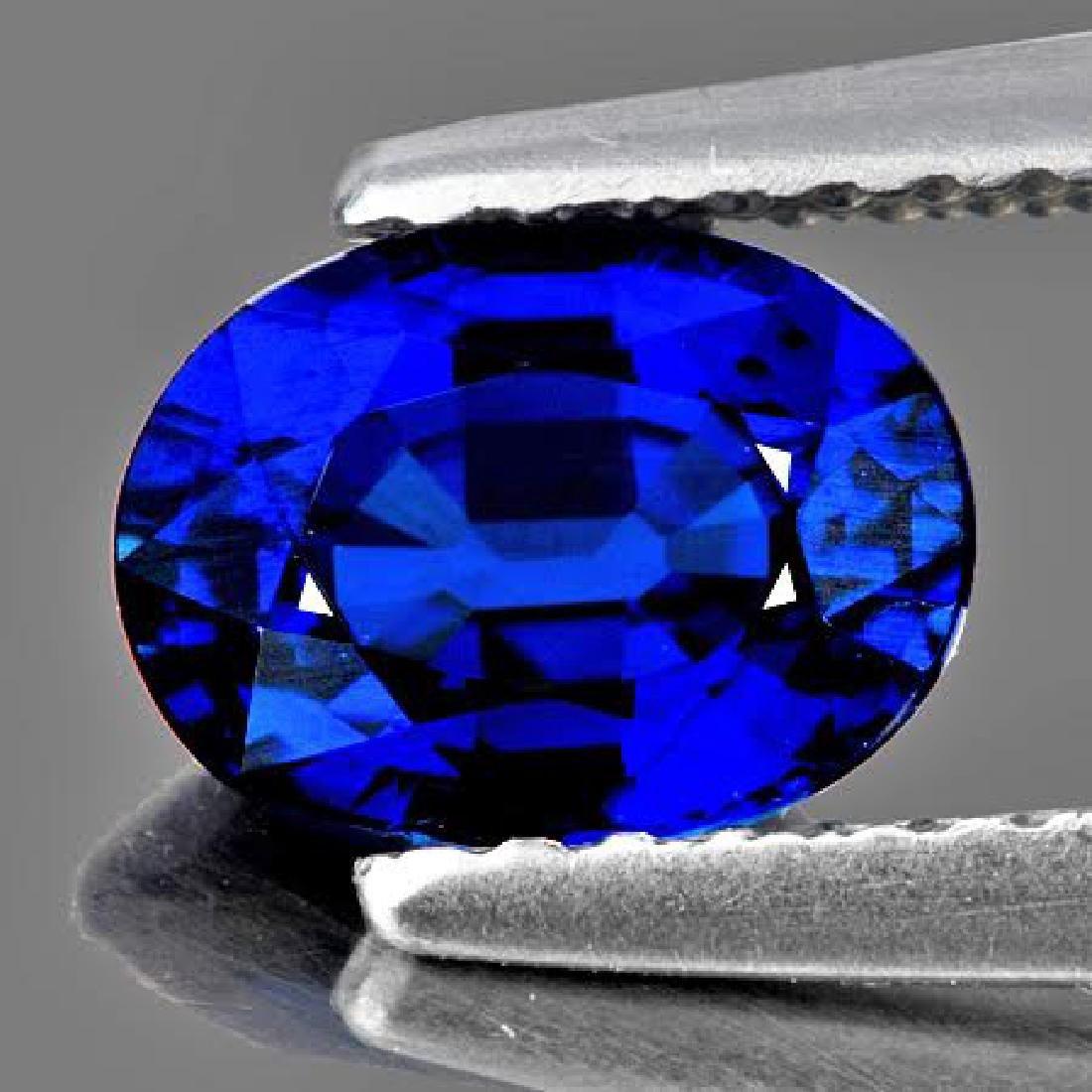 Natural Royal Blue Kashmir Sapphire 1.10 Cts