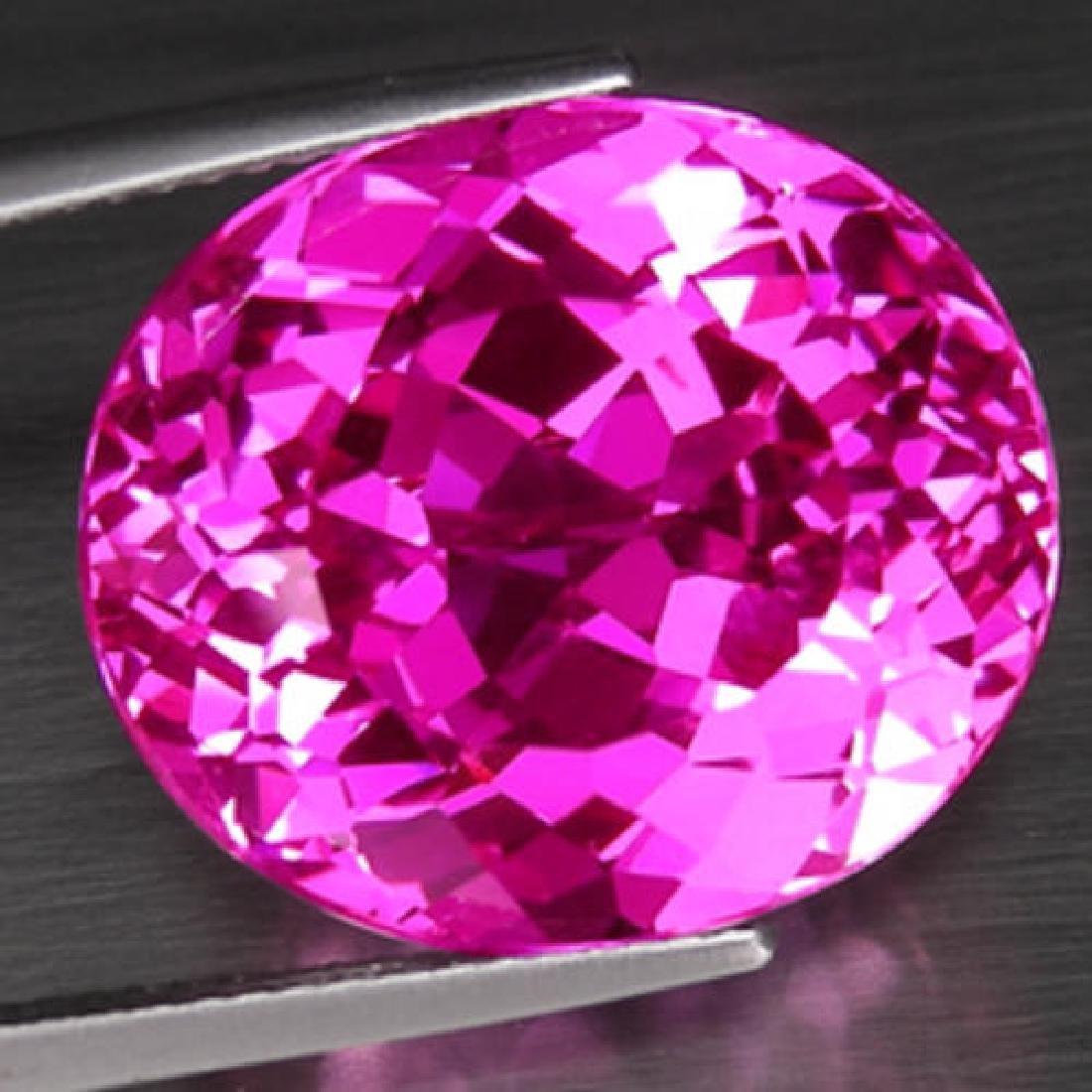 Natural hot Pink Topaz 27.25 carats - VVS