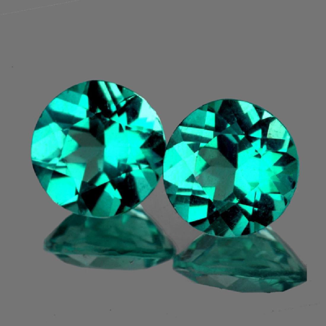 Natural Paraiba Green Blue Apatite Pair 3.42 Cts - VVS