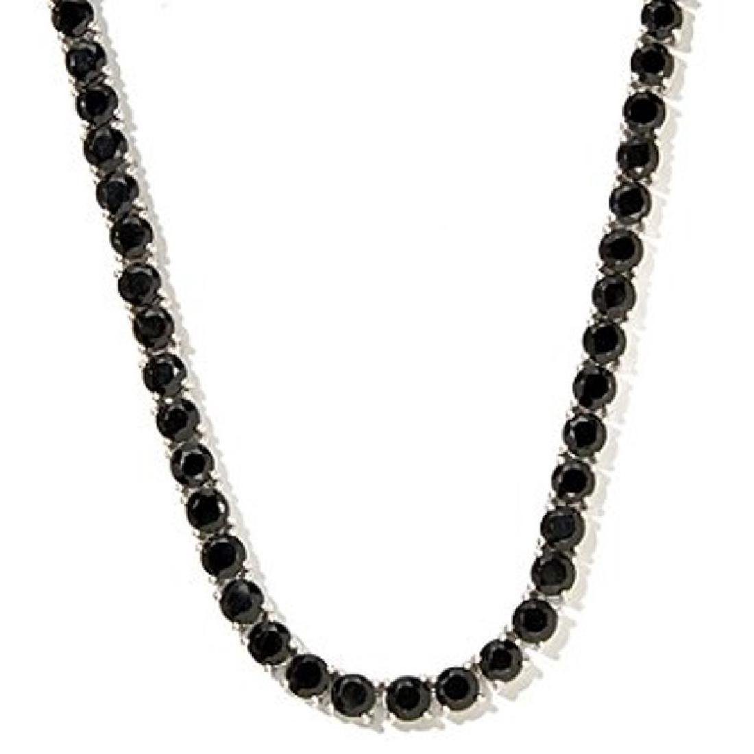 Diamond Polished Black Spinel necklace - 170 carat