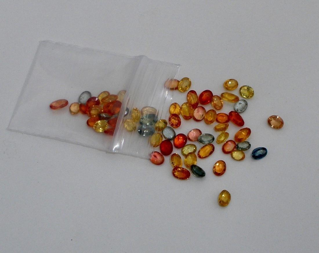Fancy Multi Color Oval & Pear Sapphire 10 cts plus - 2