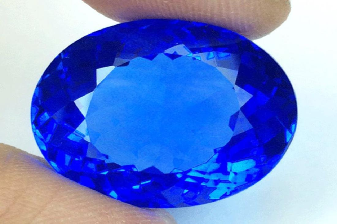 Kashmir Blue Tanzanite Quartz 31.25 carats