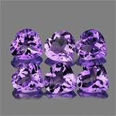 Natural Purple Heart Amethyst 10 mm  VVS