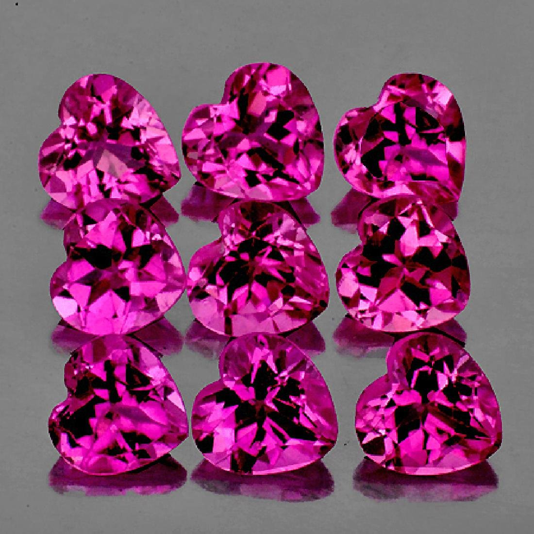 Natural Hot Pink Tourmaline Heart 3.5 mm - VVS