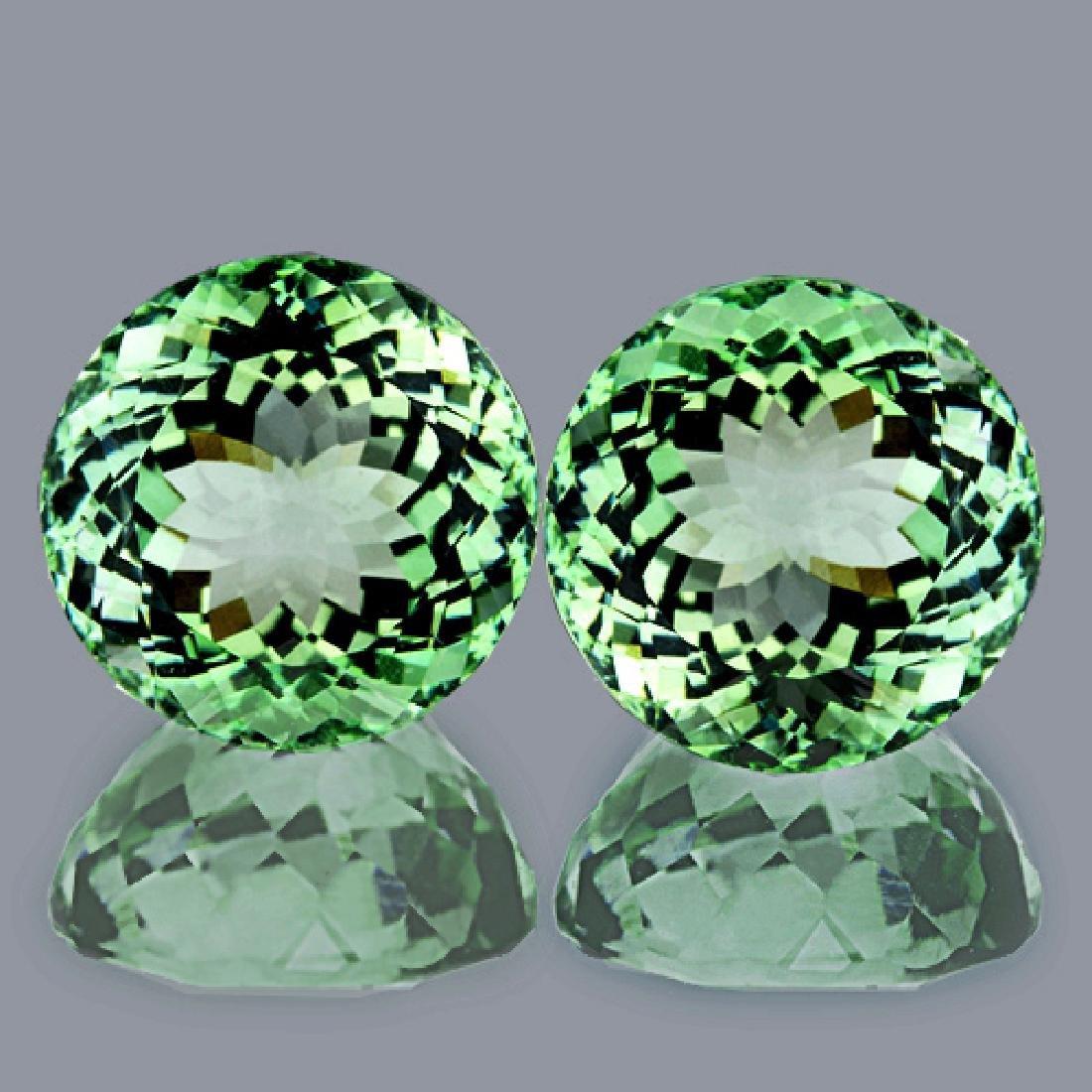 Natural Healing Green Amethyst Pair 9.50 mm - Flawless