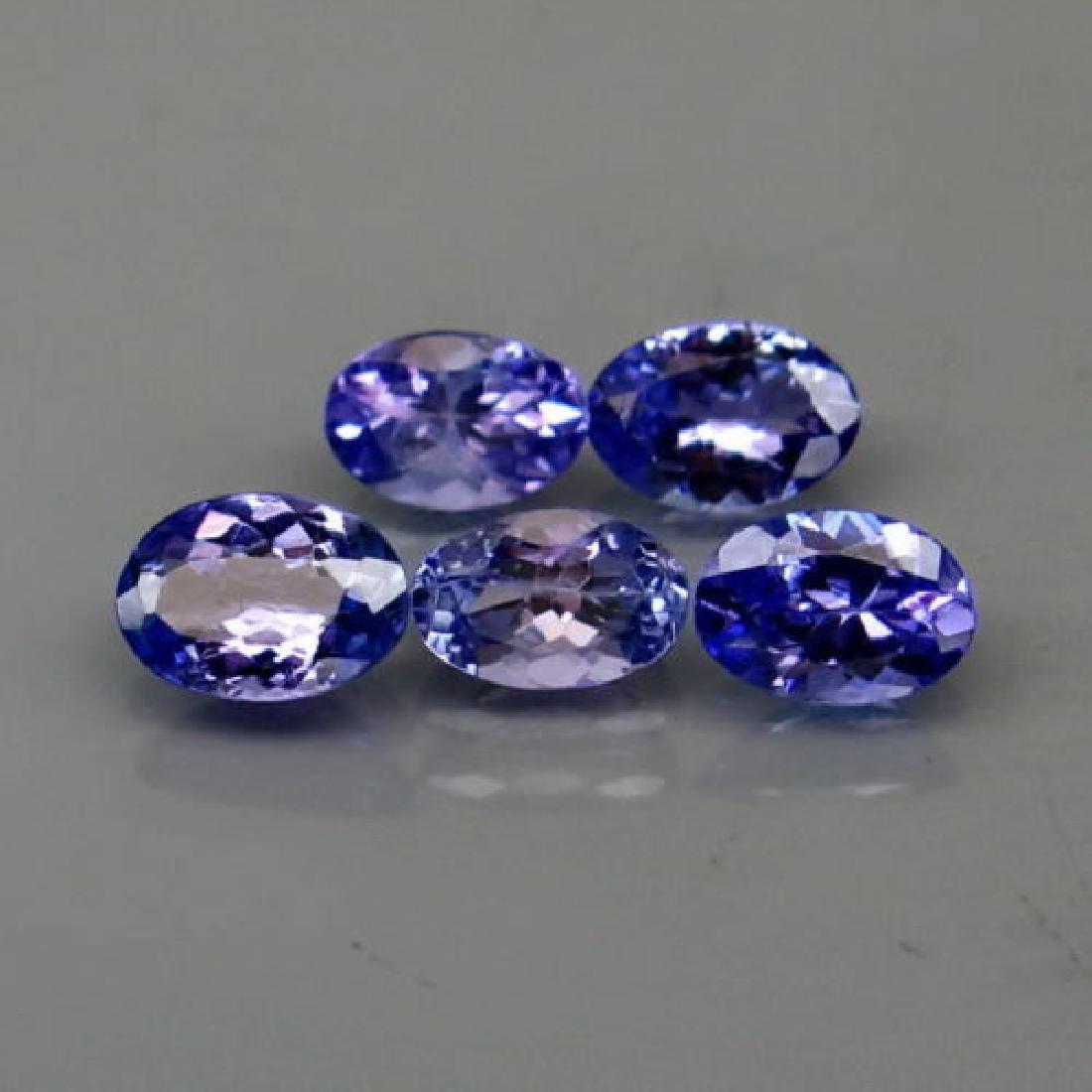 Natural Top Purplish Blue Tanzanite (6x4 mm) 2.32 cts