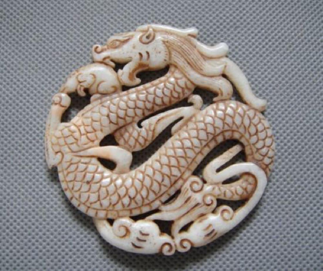 Hand Carved Jade Dragon Pendant