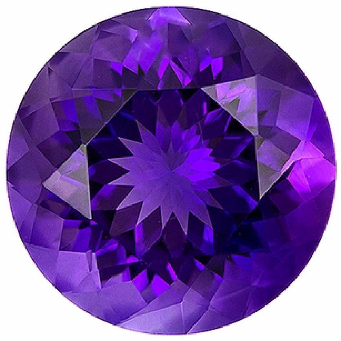 Natural Round Brilliant Amethyst 17.71 Carats - VVS