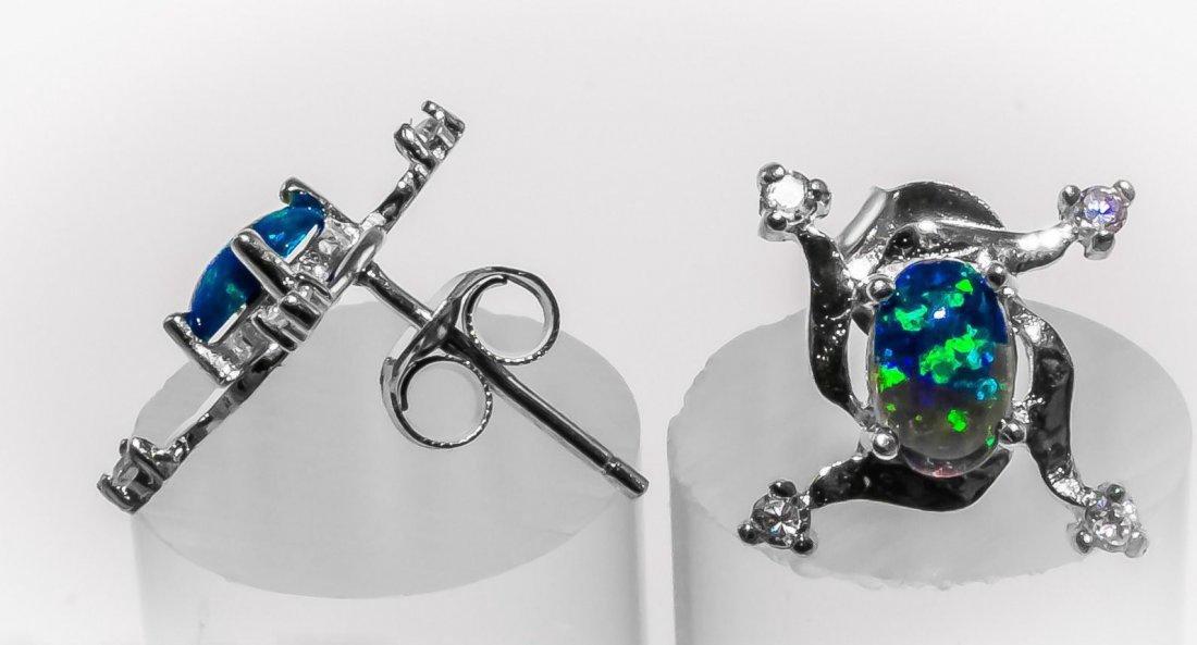 Stunning Fire Opal & Topaz Earrings/Studs - 2
