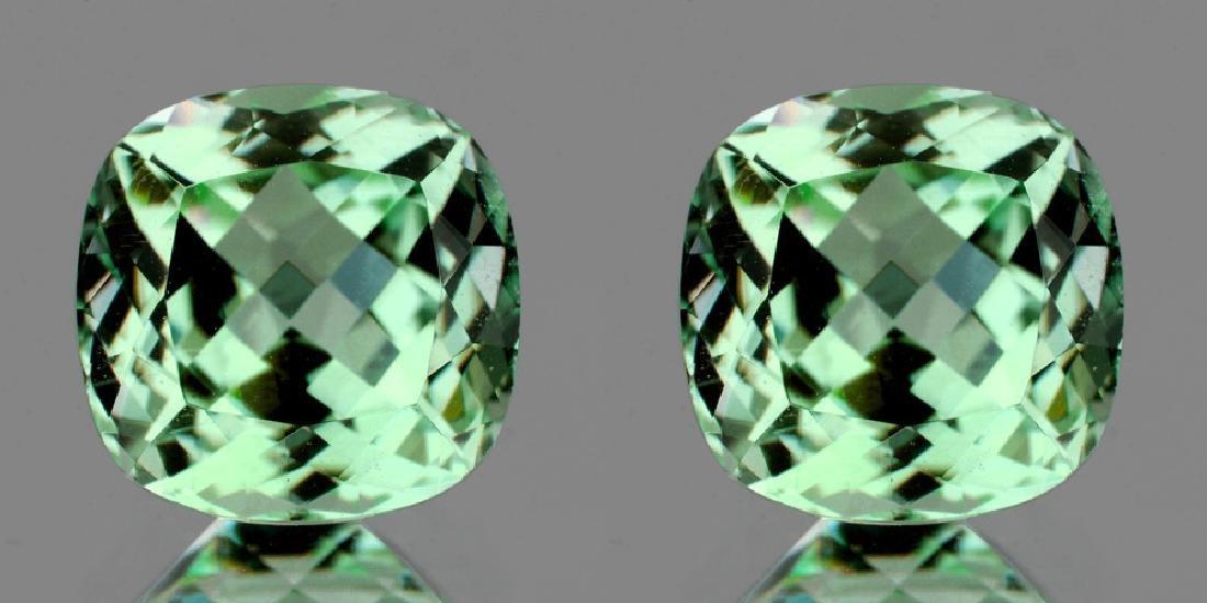 Natural Healing Green Amethyst Pair 7.90 Cts - VVS