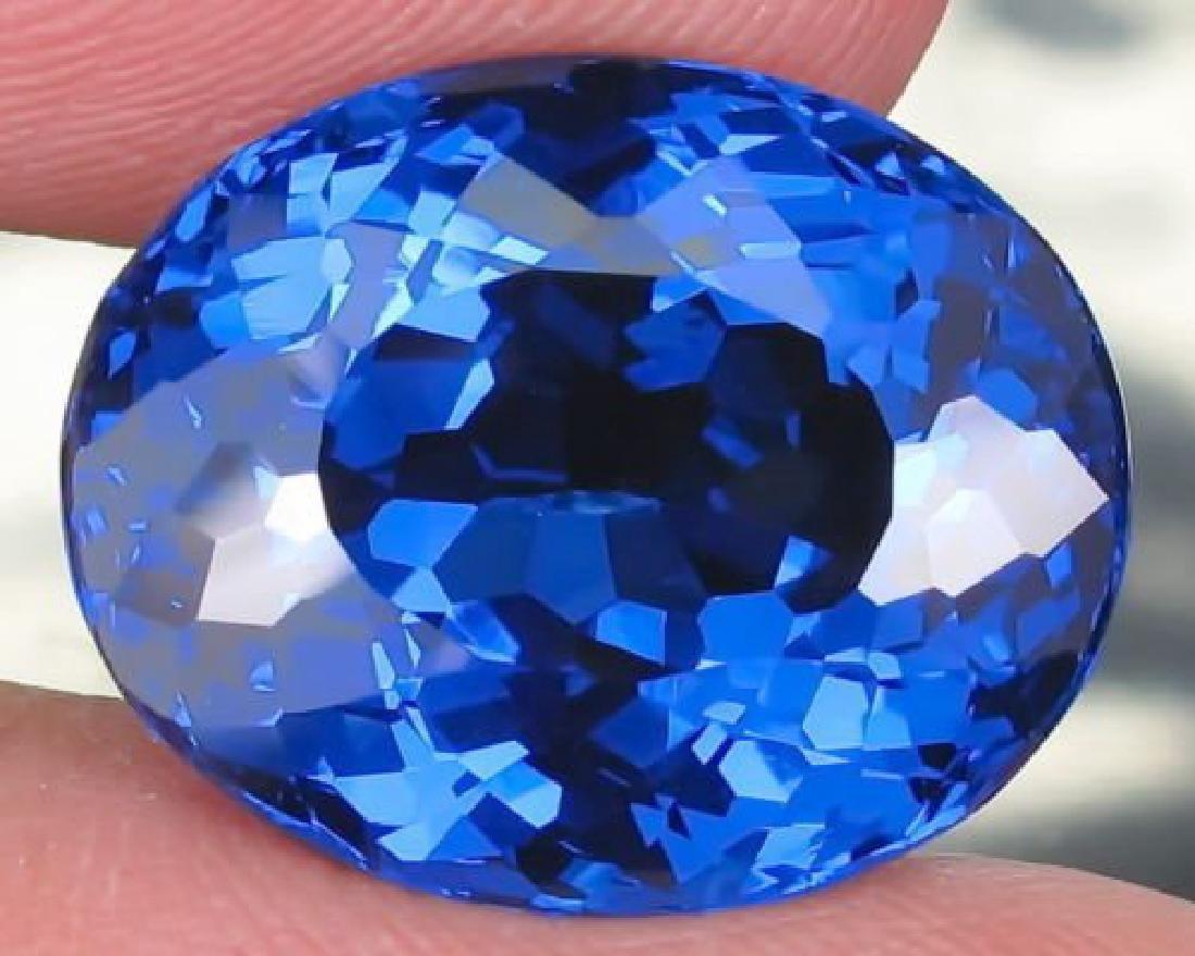 Natural London Blue Topaz 24.41 carats- Flawless