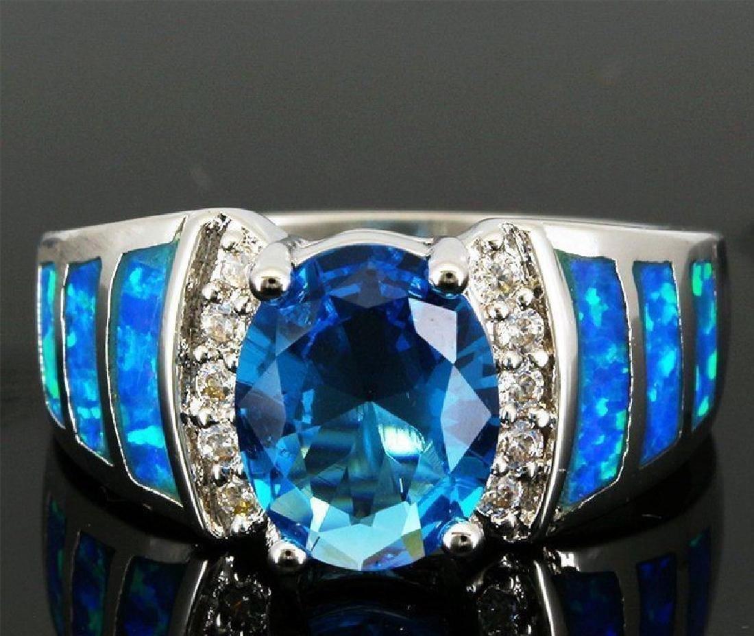 Stunning Fire Opal & Swiss Topaz Ring