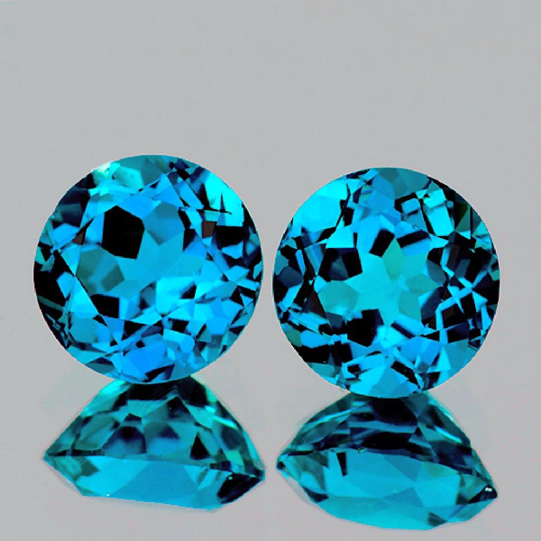 Natural London Blue Topaz Pair 8.00 mm _ VVS