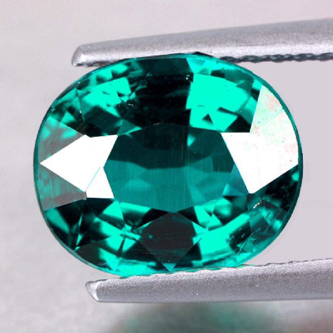 Natural Emerald Green Blue Apatite 8 x 6  mm - VVS
