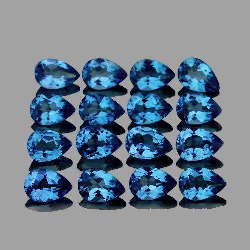 Natural  Santa Maria Blue Aquamarine Pear 4x3 MM  VVS