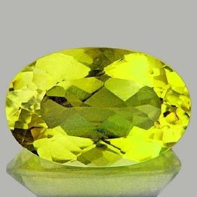 Natural Green Gold Lemon Quartz 19.20 Cts - VVS