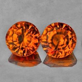 Natural  Orange Spessartite Garnet 5.00 MM {VVS}