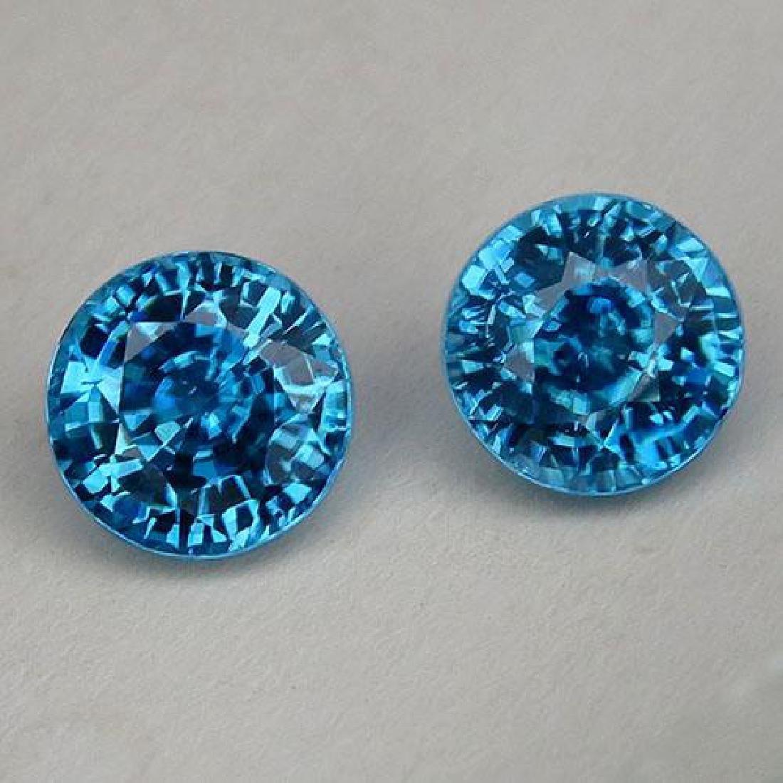 Natural Combodian Rare Blue Zircon 4.75 Ct - VVS