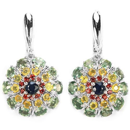 Natural Fancy Color Sapphire 50 Carats Earrings
