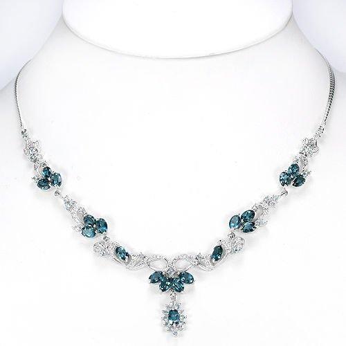 Natural Stunning London & Sky Topaz 91.25 Cts Necklace