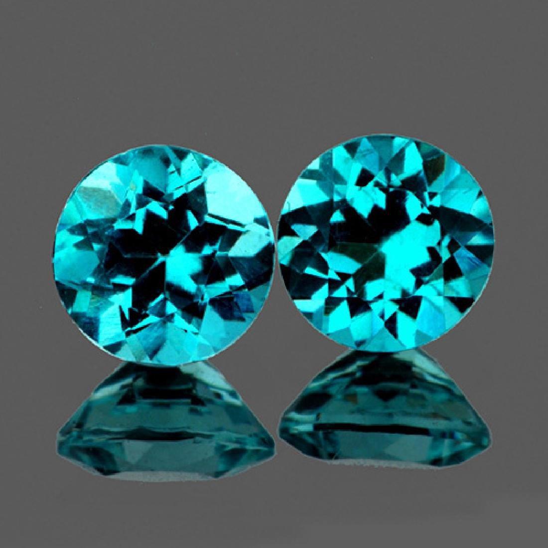 Natural Paraiba Green Blue Apatite Pair 5.50 MM - VVS