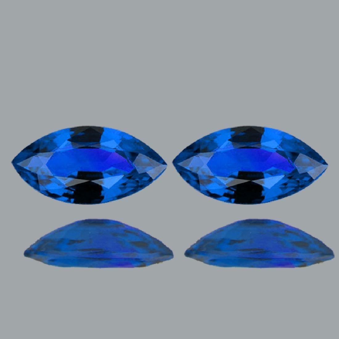 Natural Rare Intense Blue Hauyne 4 x 2 MM - VVS