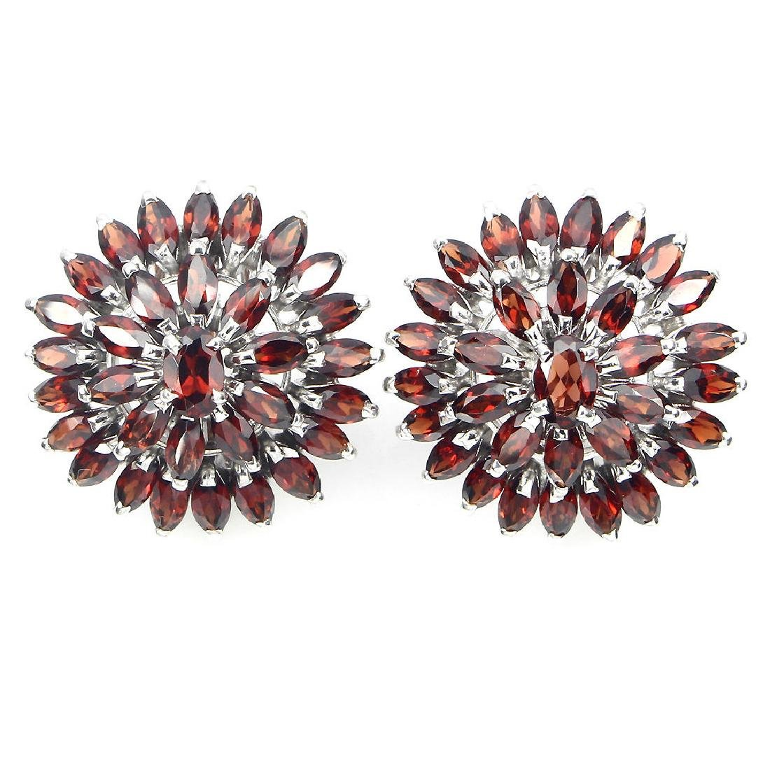 Natural Mozambique Garnet 54 Carats Earrings