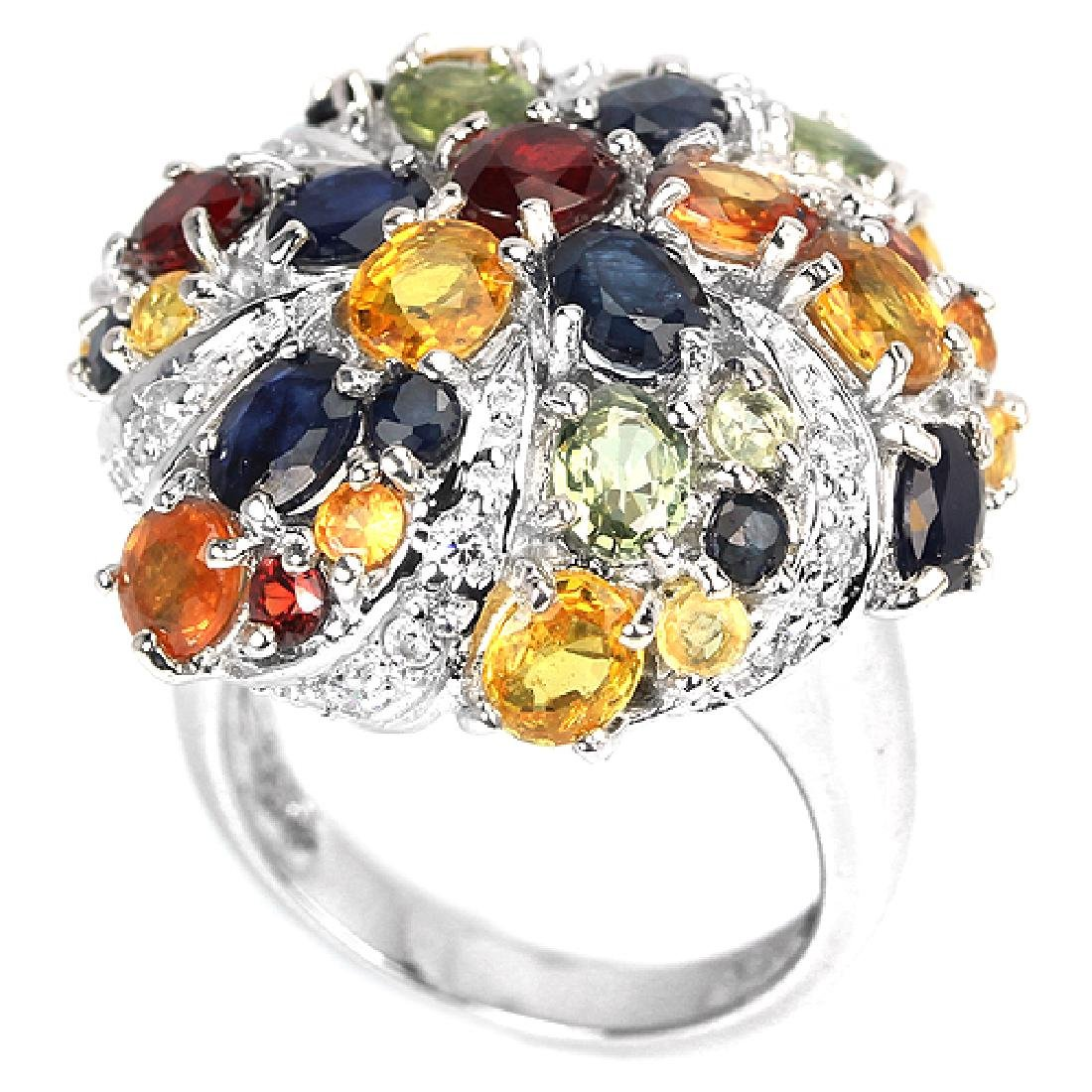 Natural Fancy Sapphire Ring - 3