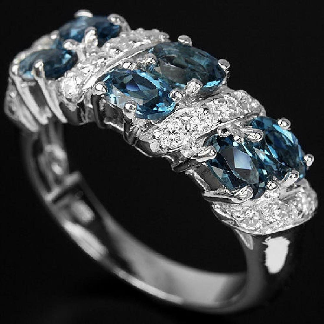 Natural London Blue Topaz 26 Carats Ring