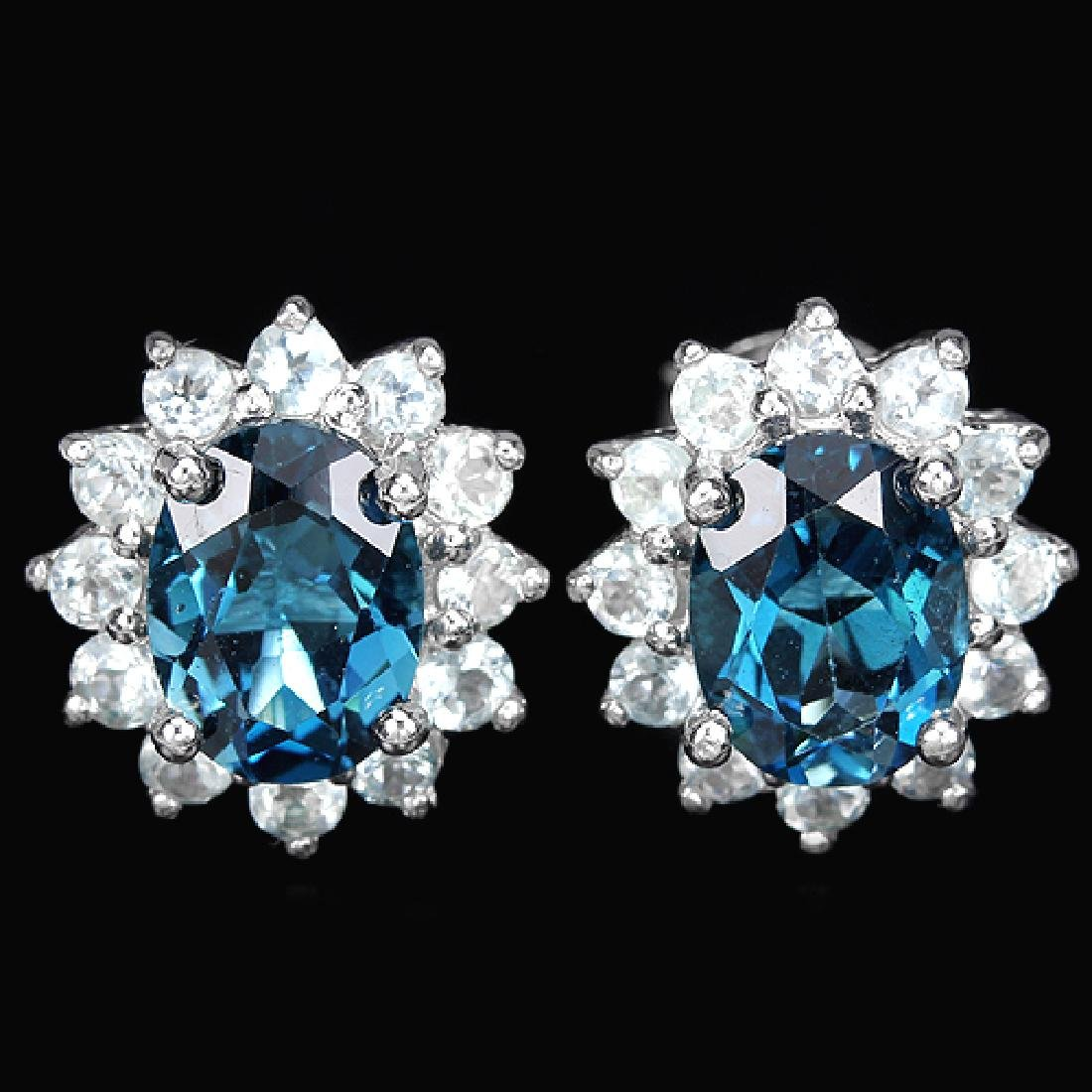 Natural Sky & London Blue Topaz Earrings