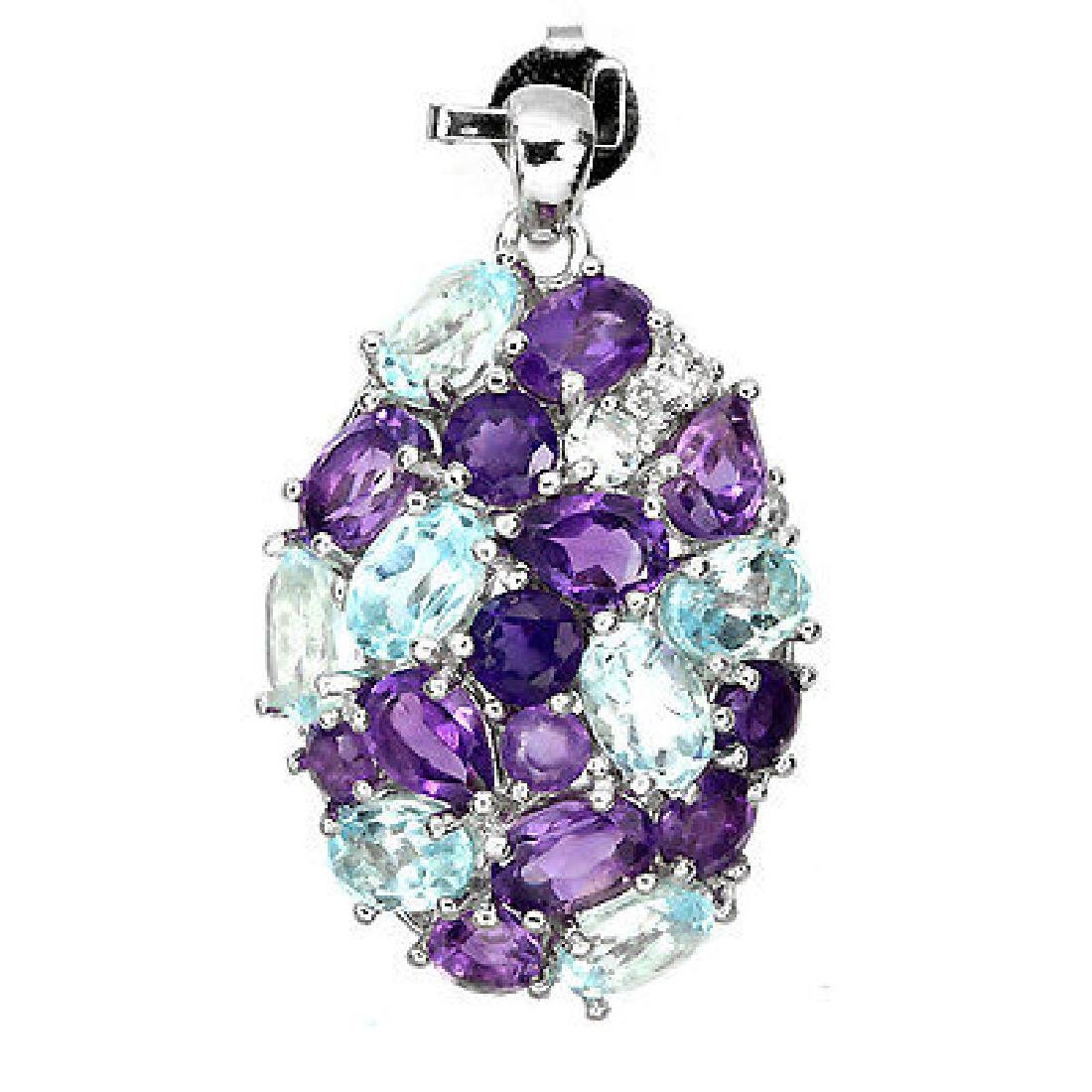 Stunning Natural Gemstones Pendant