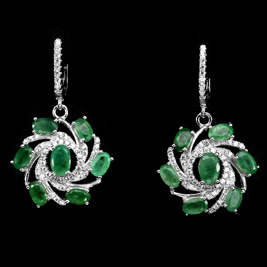 Natural Emerald Earrings & Pendant 48 Carats Set