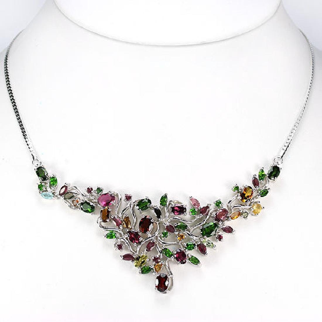 Stunning Multi Color Tourmaline Necklace