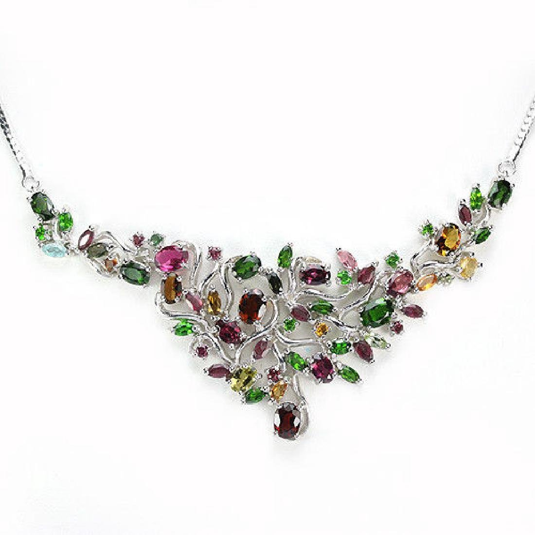 Stunning Multi Color Tourmaline Necklace - 2