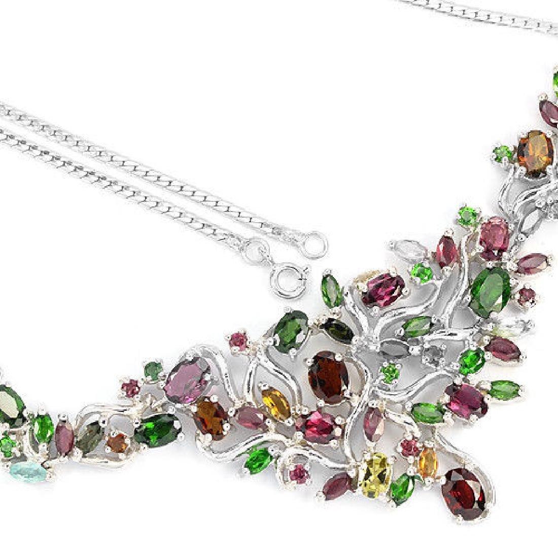 Stunning Multi Color Tourmaline Necklace - 3