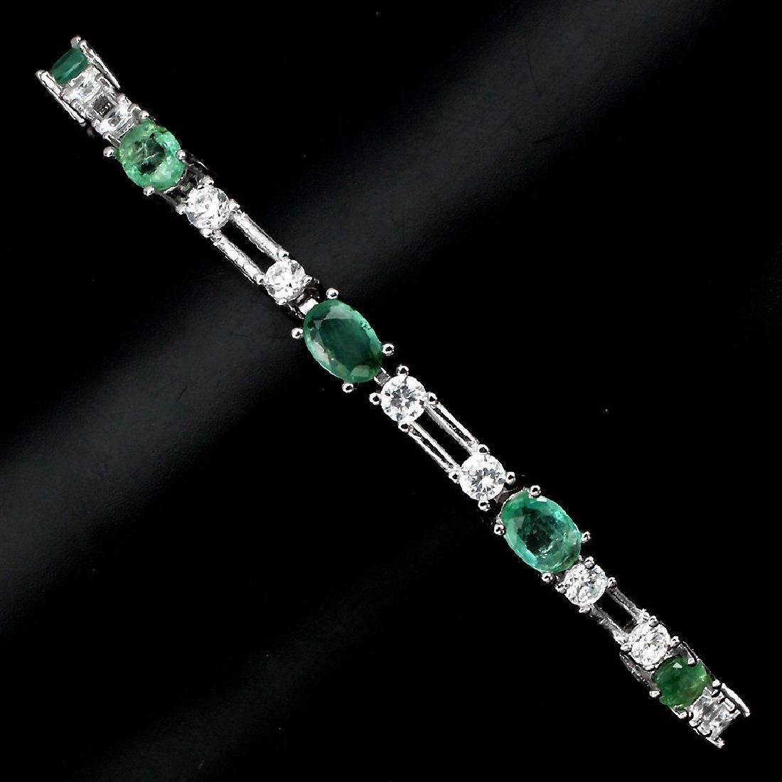 Natural Green Emerald 58.28 Carats Bracelet