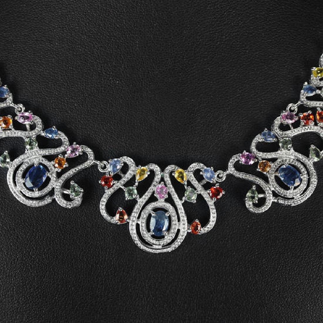 Natural Fancy Color Sapphire 179 Carats Neckace - 2