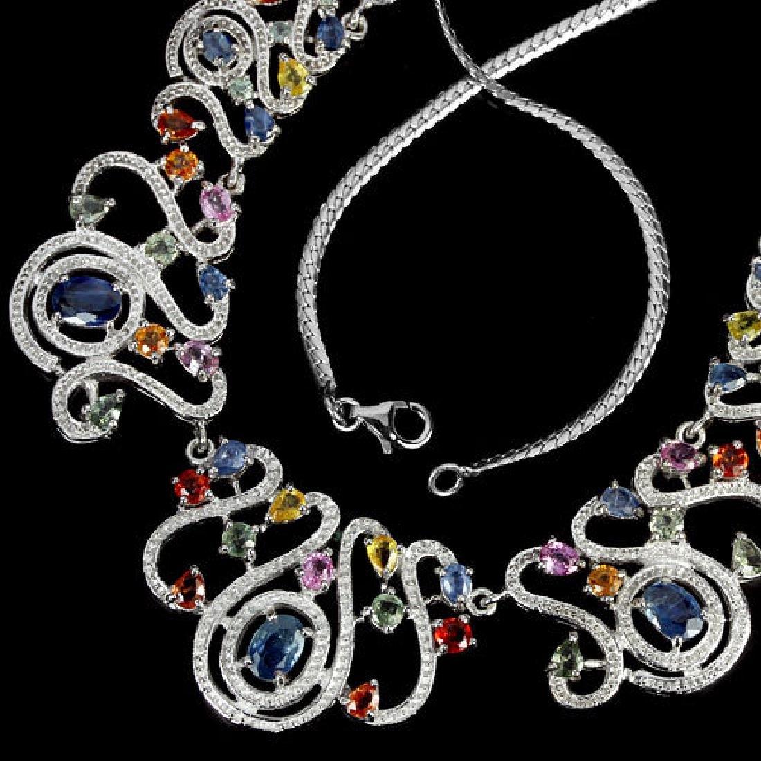 Natural Fancy Color Sapphire 179 Carats Neckace - 3