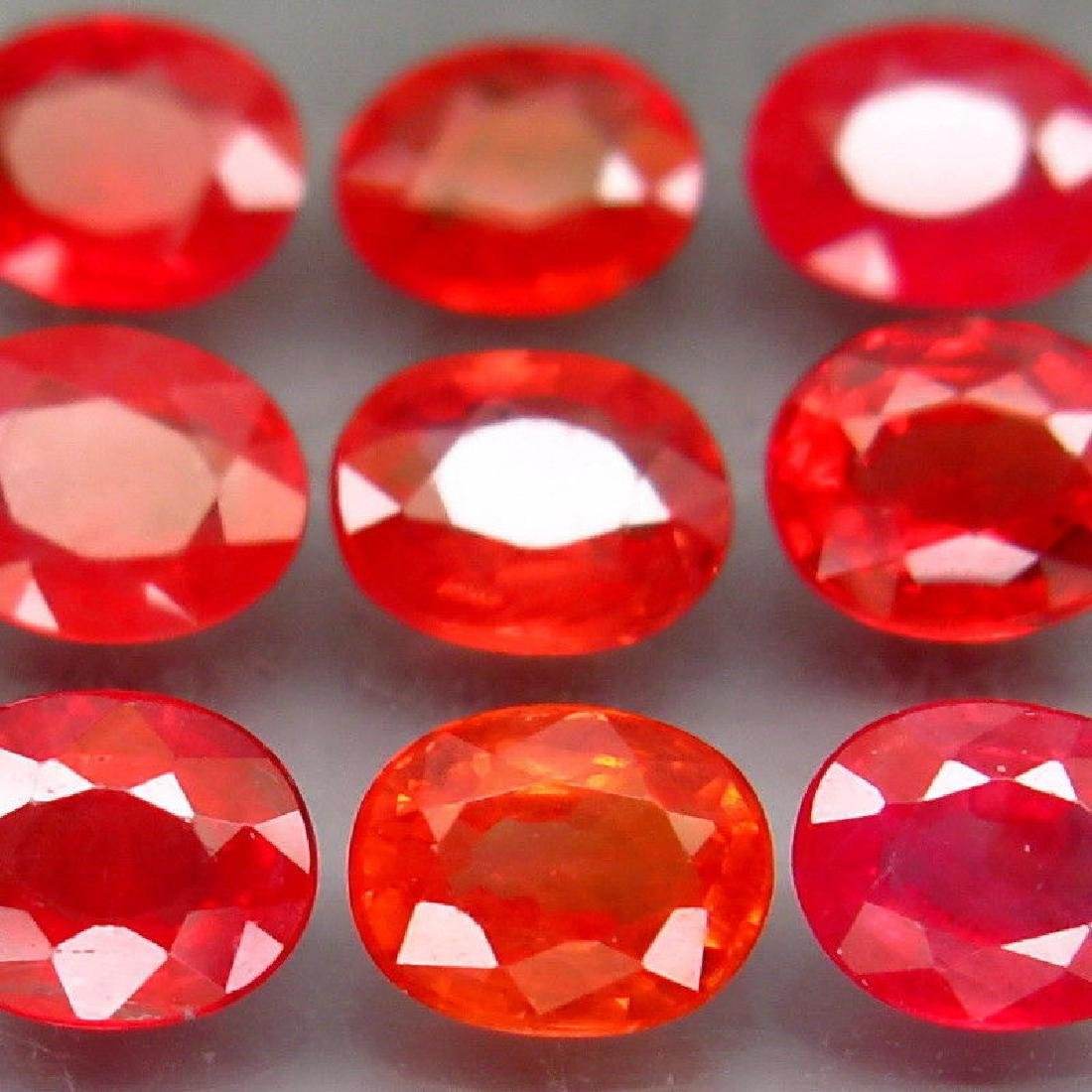 Natural  Red Sapphires  3.72 Carats - 3