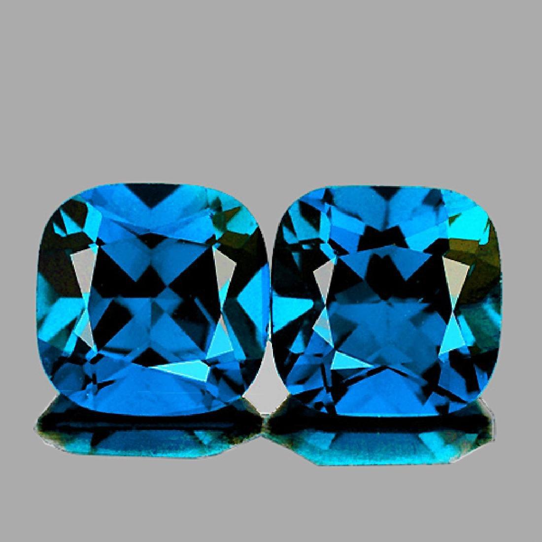 Natural Cushion London Blue Topaz 10.00 MM Pair - FL