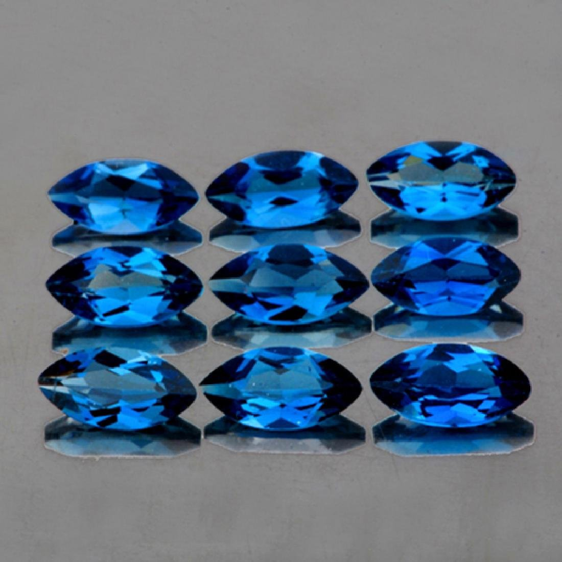 Natural London Blue Topaz (6 Pcs) 8x4 MM - FL