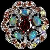 Natural Opal  Multi Gem Pendant